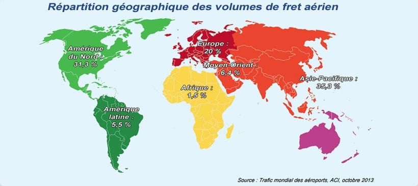 Carte indiquant la sûreté du transport aérien dans le monde