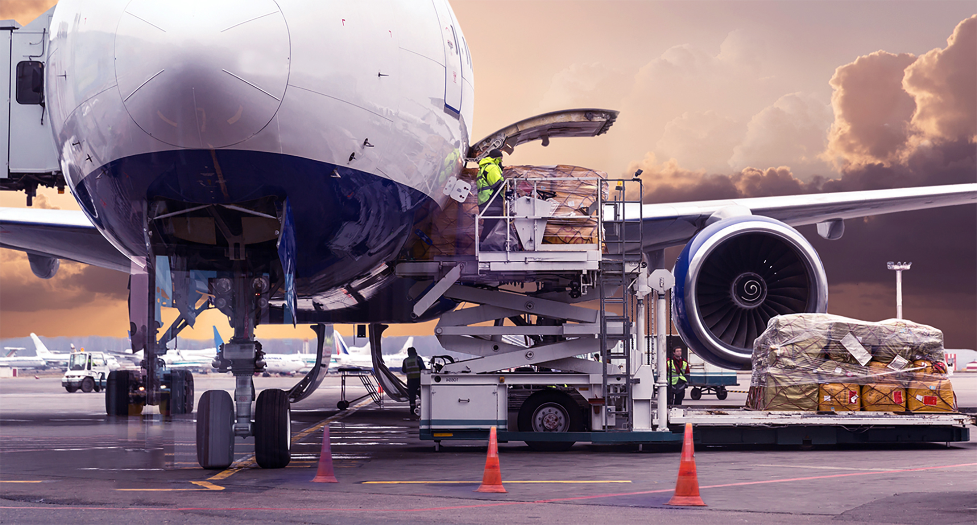 Avion de transport de marchandises pour le fret aérien