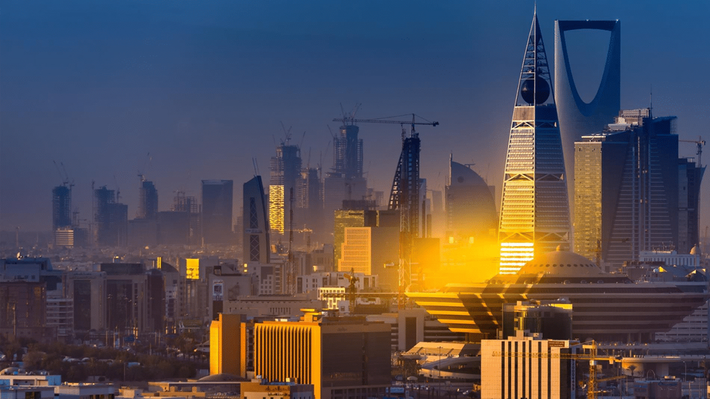 Skyline of Riyadh in Saudi Arabia in Middle East