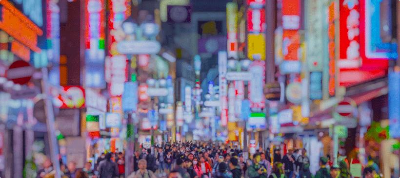 mouvement de foule à shibuya au japon, un symbole économique en asie