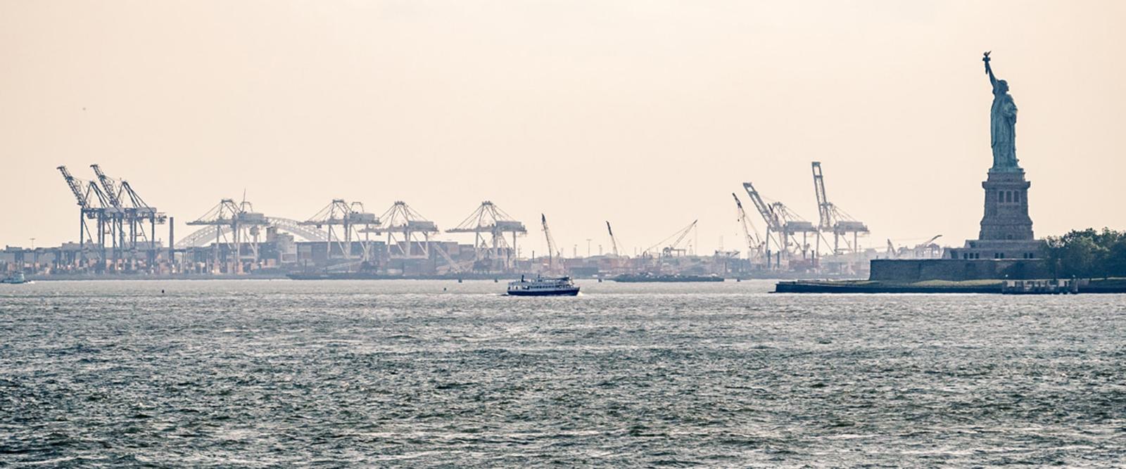 Vue d'un des plus grands ports aux états-unis d'amérique