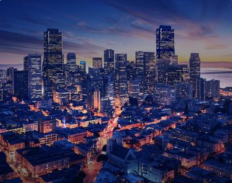 Ville de San Francisco la nuit
